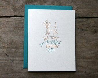 Happy Birthday from the Dog - Letterpress Single Card