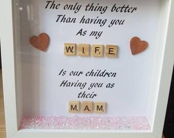 Wife/ mammy box frame