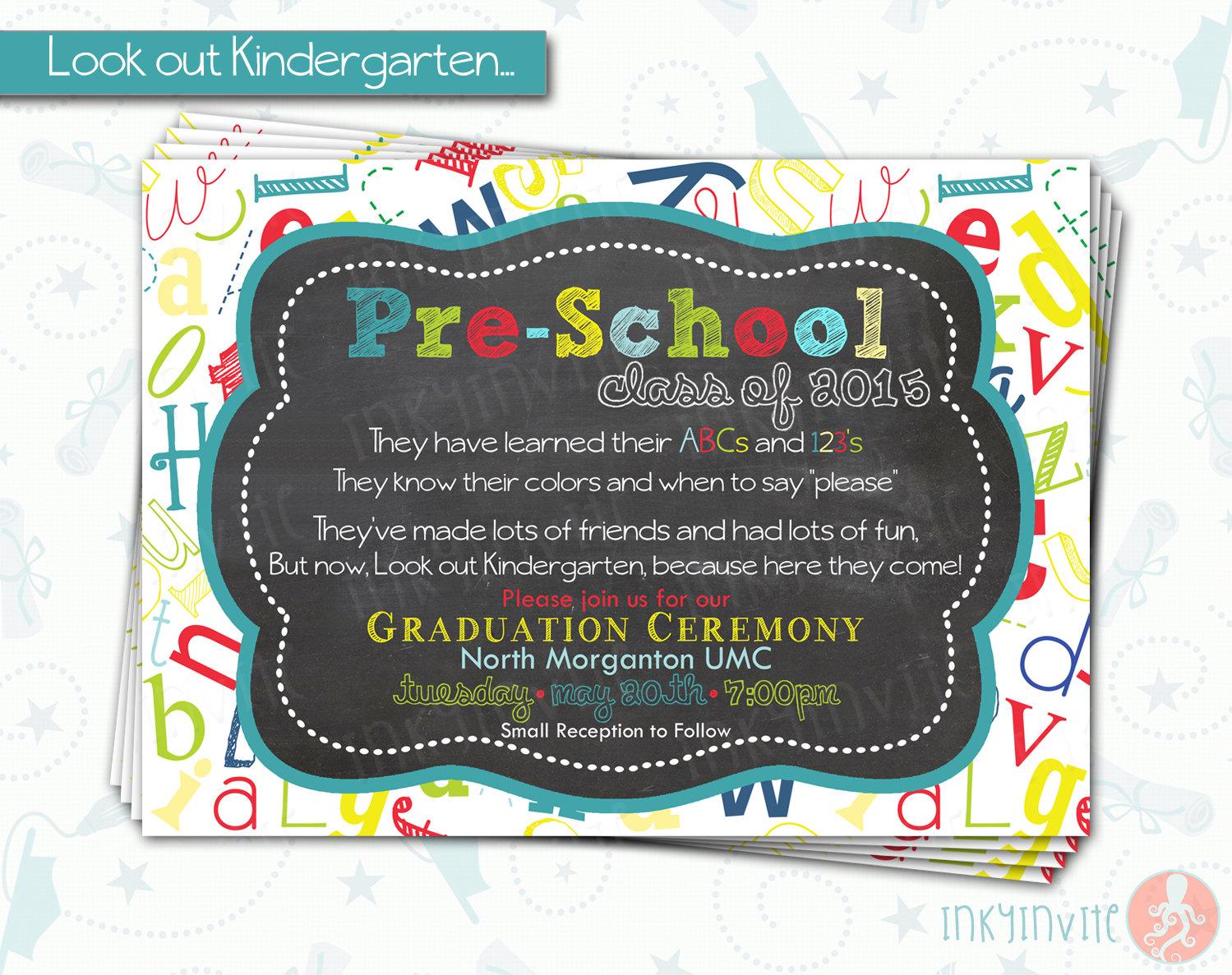 Pre-School Graduation Invitation Pre K Class Graduation
