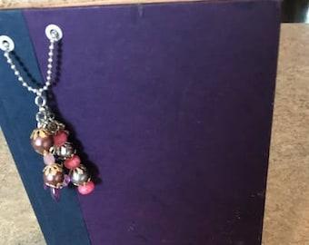 Altered book journal scrapbook purple
