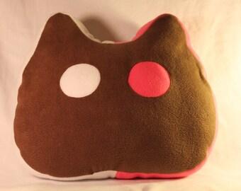 Large Cat shaped Ice Cream sandwich plush Pillow