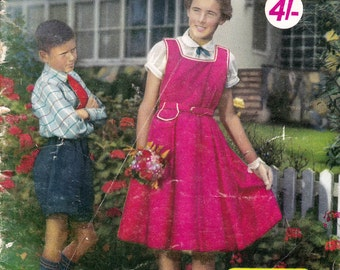 50s Vintage Sewing Pattern Drafting Book Boys Girls Teen Retro Patterns by Enid Gilchrist Dresses Coats Playsuit Shirts Pants Underwear etc