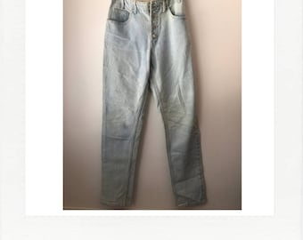 vintage 80s GUESS jeans - light wash, high waist