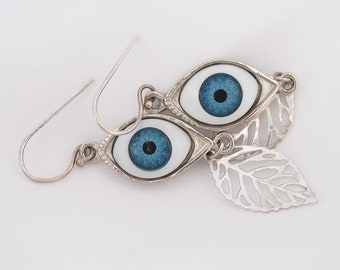 Eye Ohrringe, blauen Augen baumeln Ohrringe, Eye Schmuck, Augapfel-Tropfen-Ohrringe an Ohrhaken