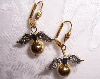 Golden Snitch Inspired Earrings