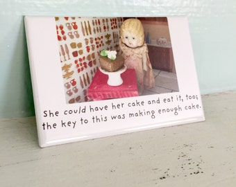 Bisque Doll Magnet Funny Dolly Cake Photo Adventures of Claudia