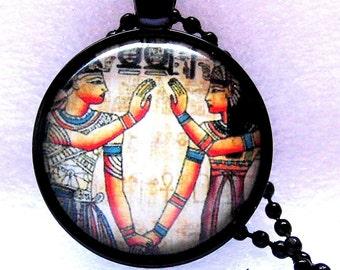 Necklace Egypt necklace Egypt Pharaoh cabochon necklace