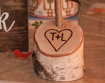 Rustic Birch Branch Guest Book Wedding Pen Holder Rustic Personalized