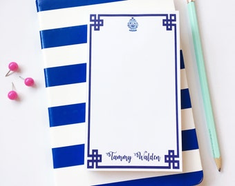 Ginger jar stationery, personalized notepad, monogrammed notepad, ginger jar notepad, preppy notepad, chinoiserie notepad, mothers day
