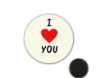 Magnet i love you 32 mm