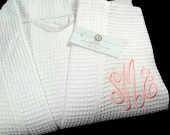 Personalized Monogram Robe, Bridesmaid Robe, Brides Robe, Brides Shower Gift, Mothers Day Gift, 1727EM
