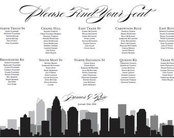 Charlotte Seating Chart Printable Digital Design PDF Custom Personal Poster Print File ONLY Seat Map