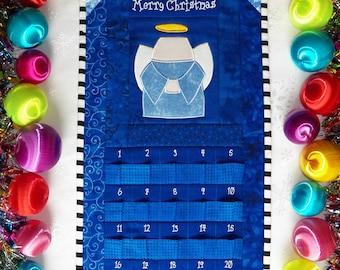 Angel Advent Calendar   Christmas Angel Countdown Calendar   Angel Holiday Calendar   Quilted Angel Calendar   Quilted Countdown Calendar