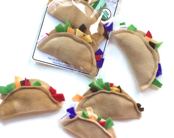 Featured listing image: Cat Toys | Catnip Tacos | Organic Catnip Toys | Tacos | Vegan Cat Toys | Handmade Cat Gift | Gift for Cat | Unique Cat Toys