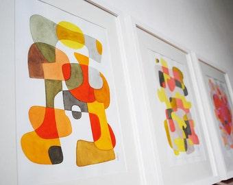 20 % de réduction: 3 estampes de votre choix - Mid Century Modern Art 8 x 10