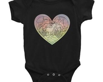 Rainbow Caribou Infant Onesie