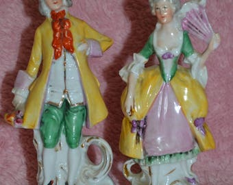 Vintage Porcelain Victorian Couple, #10185, Made In Germany