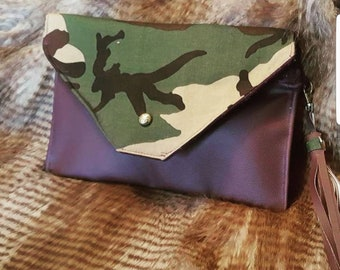 Purple Camo Clutch