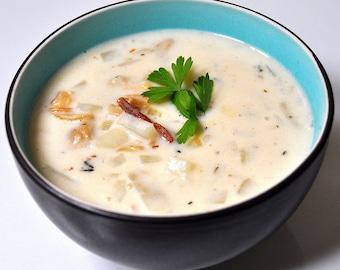 Slow Cooker Clam Chowder Recipe, Digital Download, Recipe, Clam Chowder