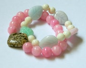Set of 2 beaded bracelets...