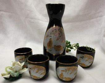 Vintage Saki 5 Piece Set