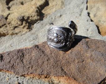 spoon ring , vintage spoon ring