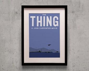 The Thing - John Carpenter Minimal Movie Poster Print