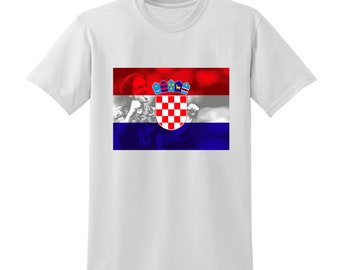 Russia World Cup 2018 Graphic Tshirt CROATIA Flag Football Team Soccer Country