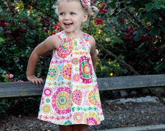 INSTANT DOWNLOAD- Harper Reversible Dress (Sizes 6/12 months to 6) PDF Sewing Pattern and Tutorial