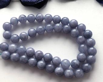 6 blue aventurine gem stone, 8 mm round beads