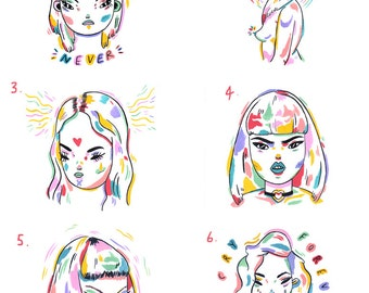 smile never / cry forever A5 print