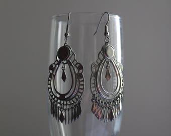 Re-purposed Silver Chandelier Earrings