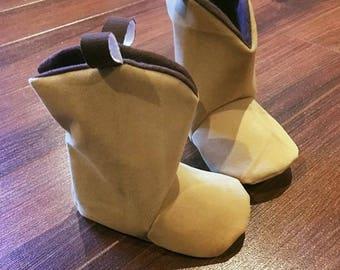 Cowboy baby booties