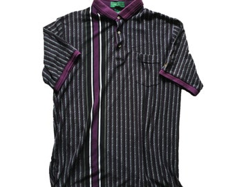 Vintage Vertical Striped Polo