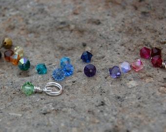 Add on - 4mm tiny crystal or birthstone charm