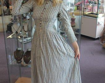 Civil War Era Calico Prairie Dress