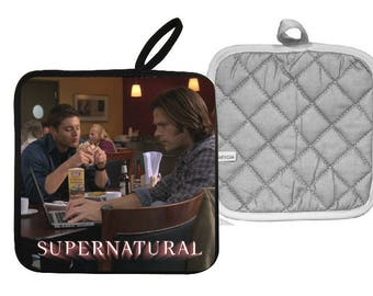 Supernatural  Sam & Dean Winchester Pot Holder