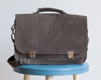 Grey bag with handle