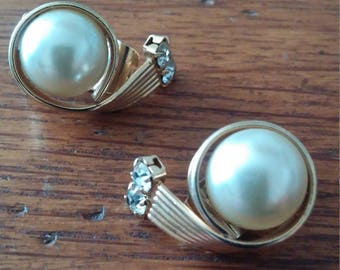 Pearl and Diamond Custome Clip Earrings