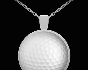 Golf Ball Pendant - Round