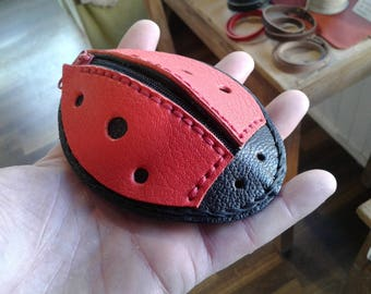 Ladybug purse! 10 x 8 black & Red
