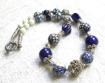 delft necklace delft blue jewelry delft jewelry delft blue necklace blue and white necklace delft necklace