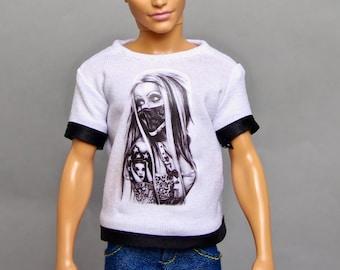 Ken doll clothes - Ken T-shirt, Ken clothes, doll clothes, Barbie clothes