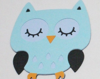 Scrapbook Embellishment, Owl Die Cuts - Set of 4