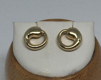 vintage Tiffany & Co. Elsa Peretta 18k yellow gold eternal circle earrings