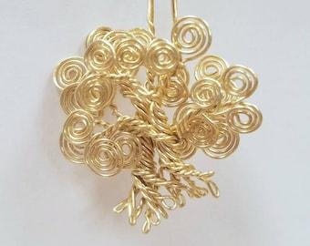 Mother's Day Signature Spiral pendant- 2 trees Interlocked
