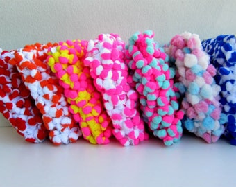 Pom Pom Trim 20mm Pom Pom Balls 3 Yards Pom Pom Trim  Decorative Craft Embellishments Colorful Pom Pom Fringe Assorted Colors