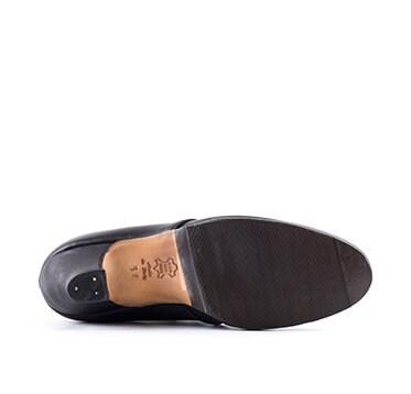 siècle Françoise femme cuir PAOUL en chaussures noir 18ème 700D qp1dxEa