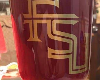 FSU Seminoles HOGG 30 oz Tumbler, Florida State Tumbler, College Football Fan