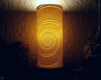 Porcelain lamp. Hygge lighting. Hand sculpted, translucent porcelain ceramic light, mood lighting, night light. Can be wired for use in US.